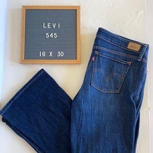 Levi 545 Low Boot Cut Jeans. Size 16x30.